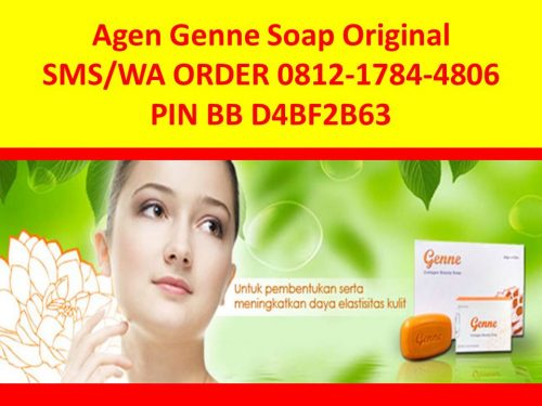 SMS-WA 0812-1784-4806 Sabun Collagen-Kolagen Genne Soap Murah Original
