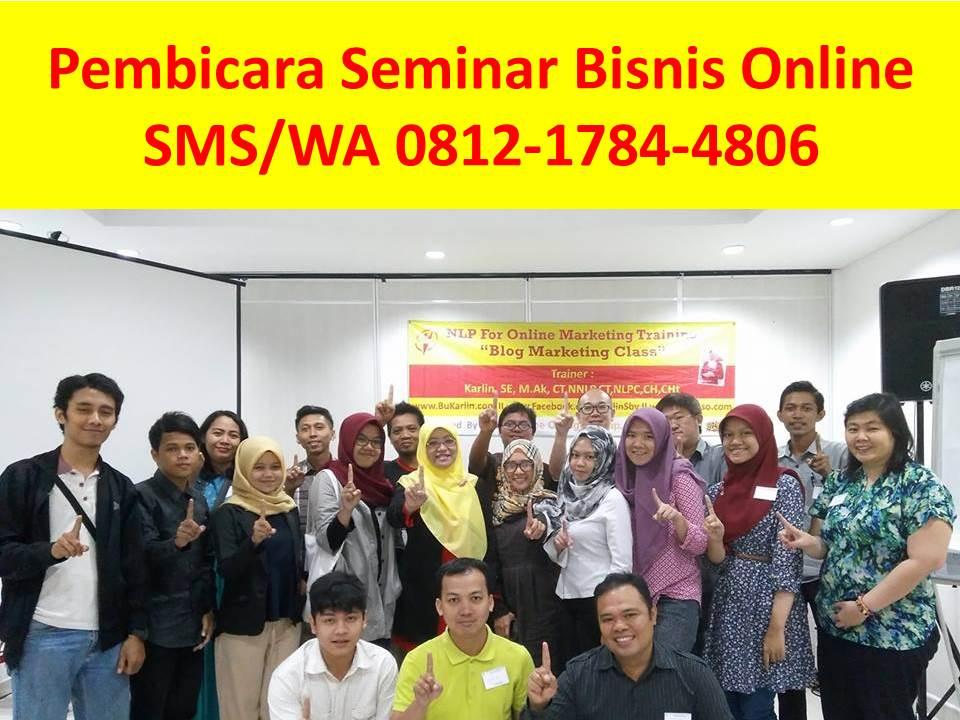 Pembicara Seminar Bisnis Online Surabaya