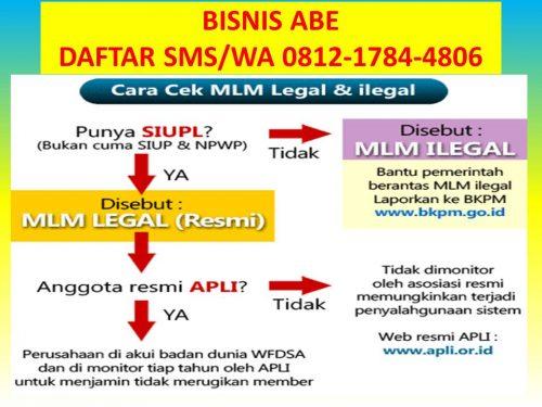 SMS-WA 0812-1784-4806 Modal Daftar Bisnis Abe